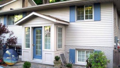 Gorgeous Exterior Painted Brick, Vinyl Siding, Shutters, Doors, Windows in NOTL
