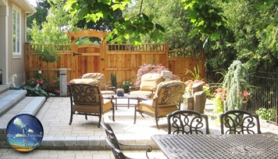 Beautifully Refinished Fence with Natural Wood Stain