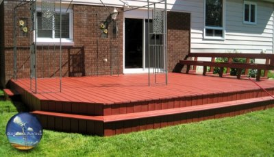 Classic Backyard Deck Strip, Wash, Sand, & Stain Refinishing in St Catharines