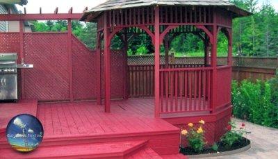 Bold Deck & Gazebo Strip, Wash, Sand, & Stain Refinishing in Welland